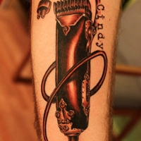 clippers hairdresser memorial tattoo